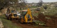 الاحتلال يجرف أراضي زراعية جنوب بيت لحم
