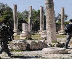 مستوطنون يقتحمون الموقع الأثري في بلدة سبسطية